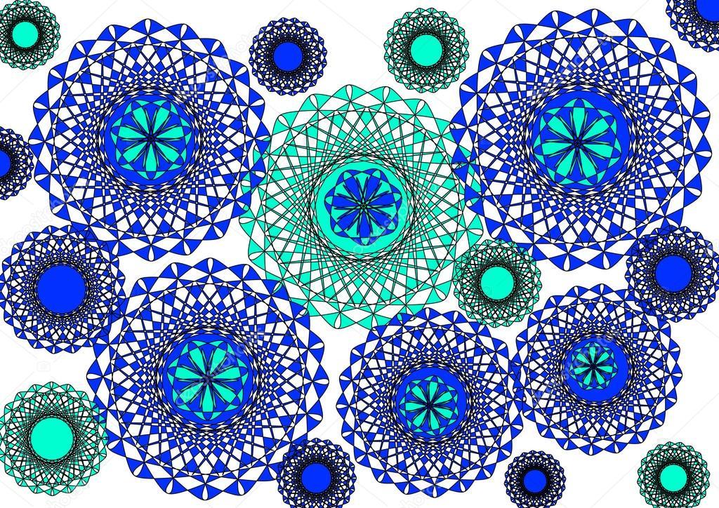 design abstrait moderne lumineux floral en bleu et vert sur fond blanc uni photo 18031527. Black Bedroom Furniture Sets. Home Design Ideas