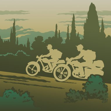 Motorcyclists travelling