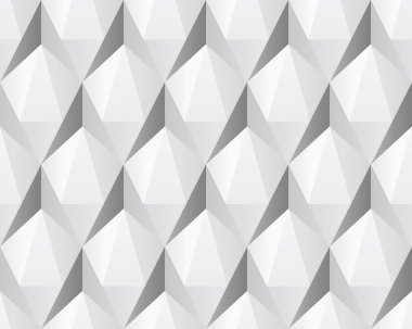 White 3d abstract seamless texture
