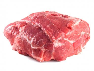 Pork neck carbonade. Fresh raw pork meat.