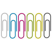 Paper clip isolated on white background.