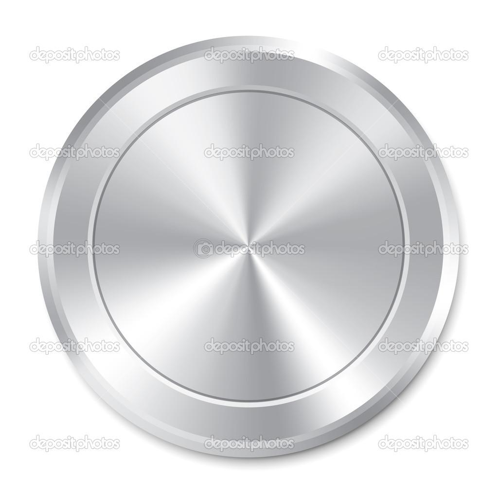 Metallic Button Template Round Sticker Icon Stock Photo