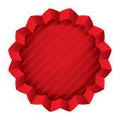 cena tag šablona. červená kulatá hvězda nálepka