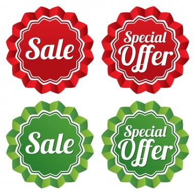 Special offer price tags templates set.
