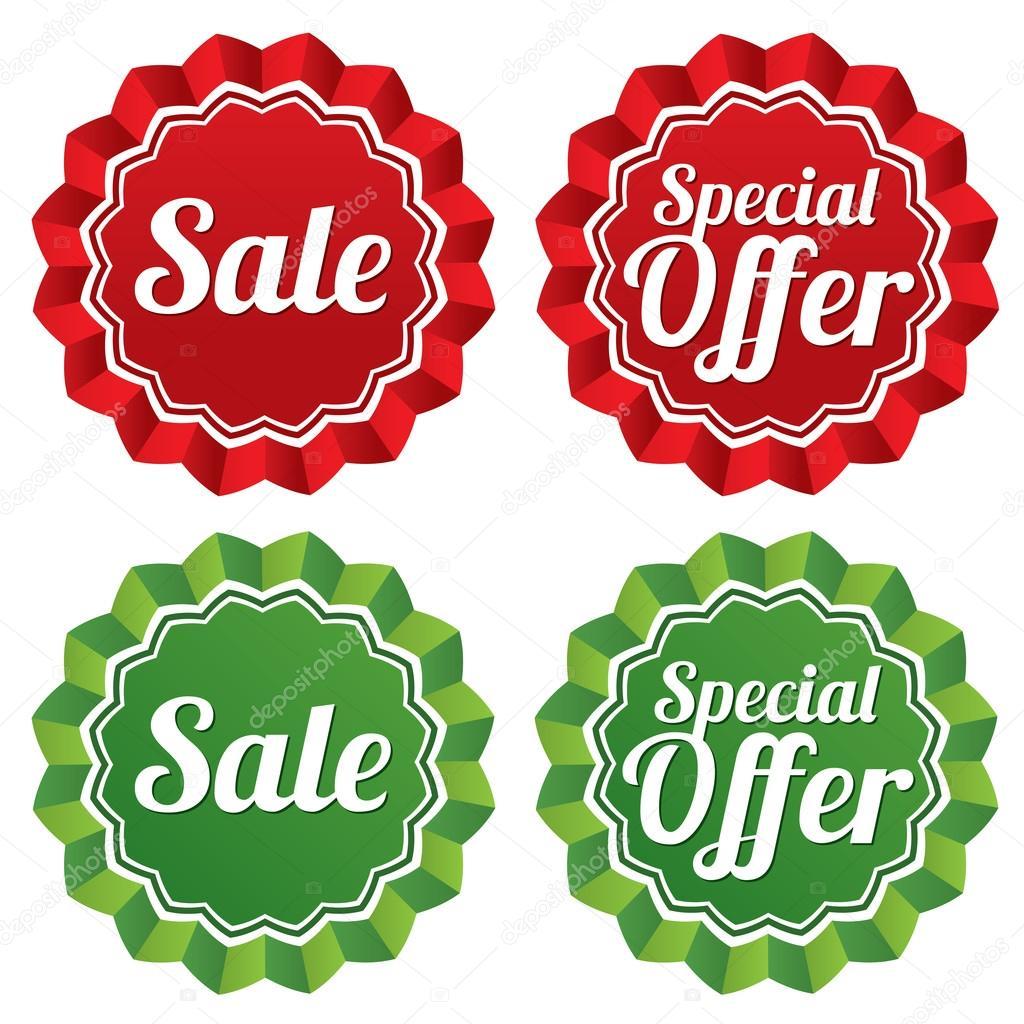 conjunto de plantillas de etiquetas de precios oferta especial ...