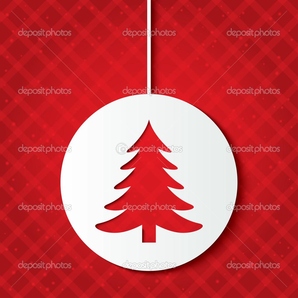 Bola de navidad con el rbol de navidad cortar el papel - Bola de navidad con foto ...