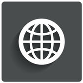 Globe earth icon. Travel symbol. .