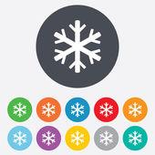 Fotografie Schneeflocke Symbol. Klimaanlage Symbol