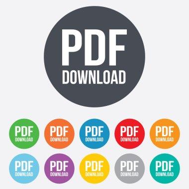 PDF download icon. Upload file button.