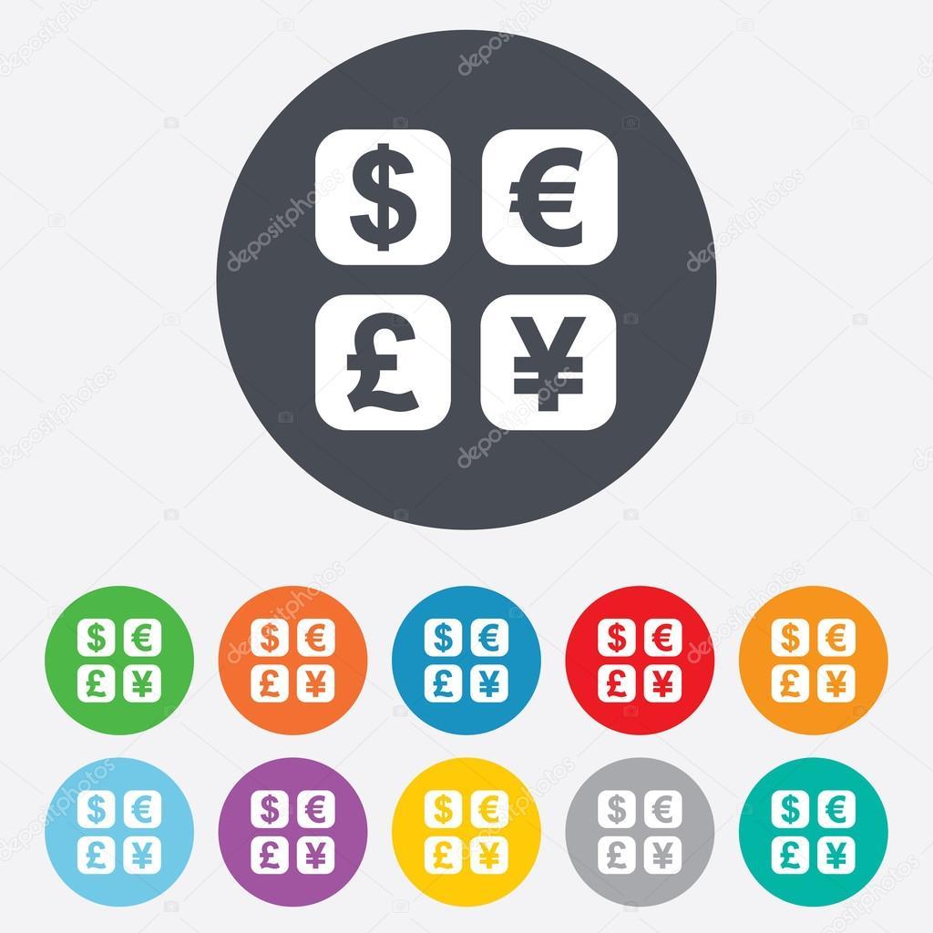 icono de signo de intercambio de moneda  convertidor de