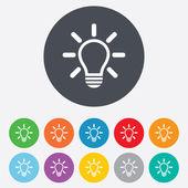 Fotografie ikona podepsat světlo lampy. myšlenka symbol