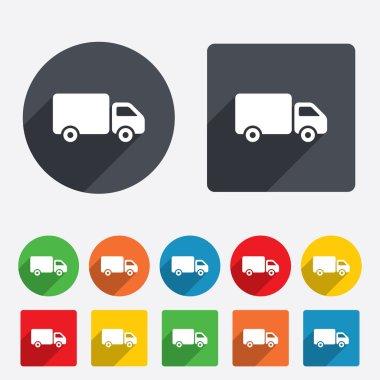 """Картина, постер, плакат, фотообои """"значок грузовика доставки. грузовой фургон ."""", артикул 40839459"""
