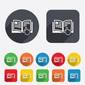 Photo Instruction sign icon. Manual book symbol.
