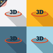 Fotografie 3D sign icon. 3D New technology symbol.