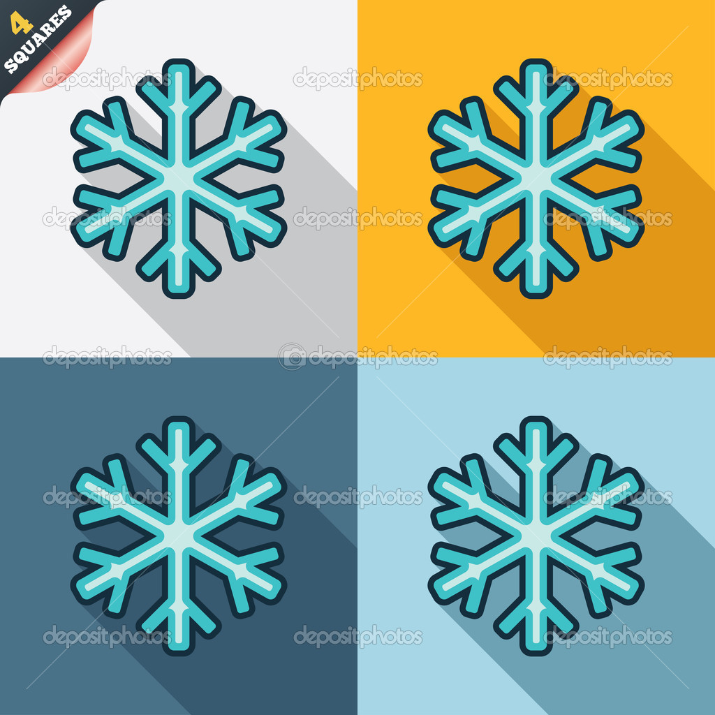 icono de signo de copo de nieve. símbolo de aire acondicionado ...