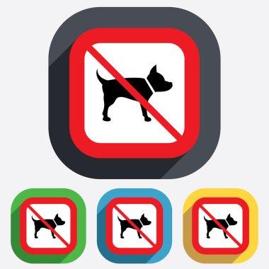 Dog sign icon. No Pets symbol.