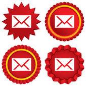 Fotografia icona di mail. simbolo della busta. segno del messaggio