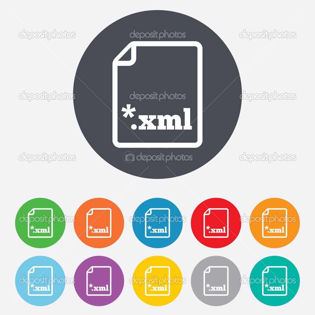 Dokument Dateisymbol. Download Xml-button — Stockfoto © Blankstock ...