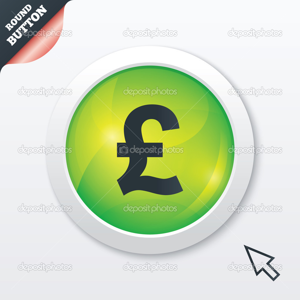 Pound sign icon gbp currency symbol stock photo blankstock pound sign icon gbp currency symbol money label green shiny button modern ui website button with mouse cursor pointer photo by blankstock buycottarizona Choice Image