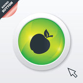 Photo Apple sign icon. Fruit with leaf symbol.
