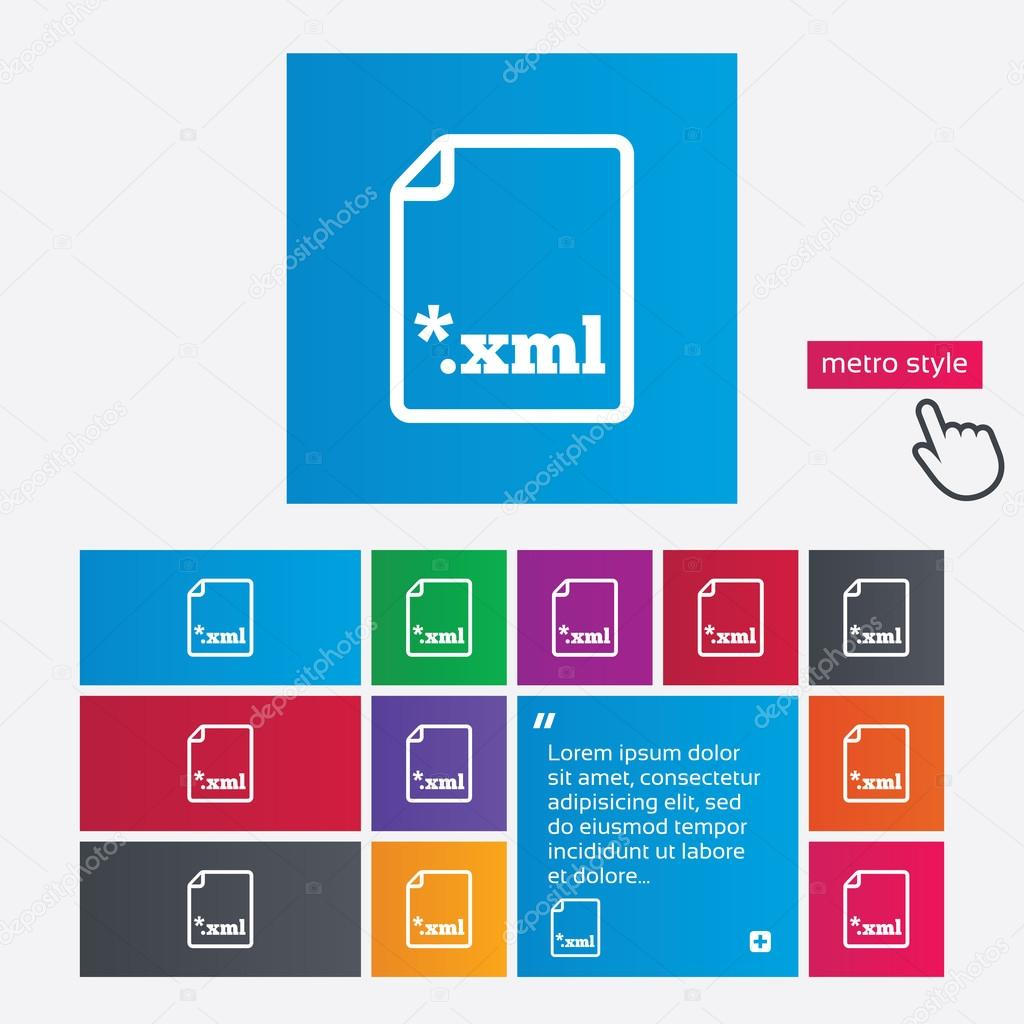 Dokument Dateisymbol. Download Xml-button — Stockvektor © Blankstock ...