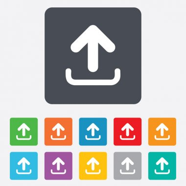 Upload sign icon. Upload button.
