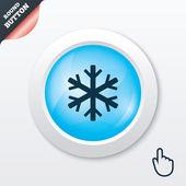 Fotografie Schneeflockensymbol. Klimasymbol.