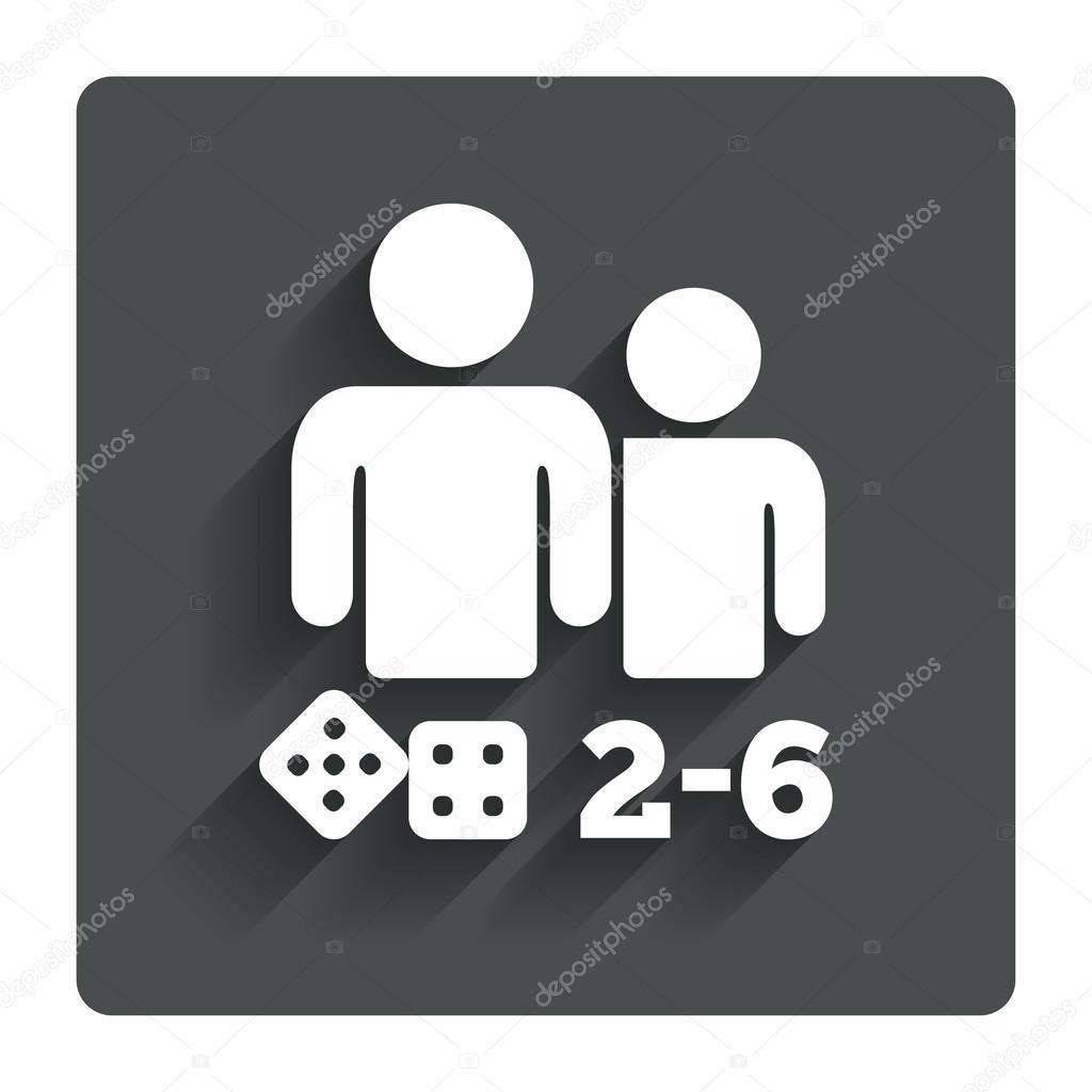 ic ne de signe de jeux de soci t symbole de 2 6 joueurs image vectorielle blankstock. Black Bedroom Furniture Sets. Home Design Ideas