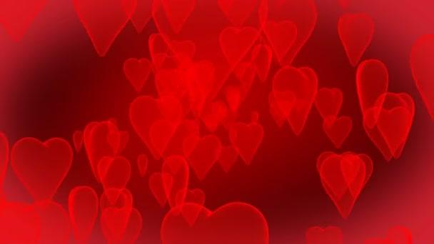 Animated shiny hearts