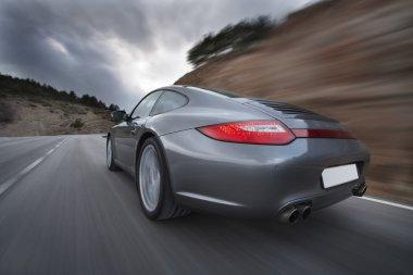 Car Speeding, Blurred Motion