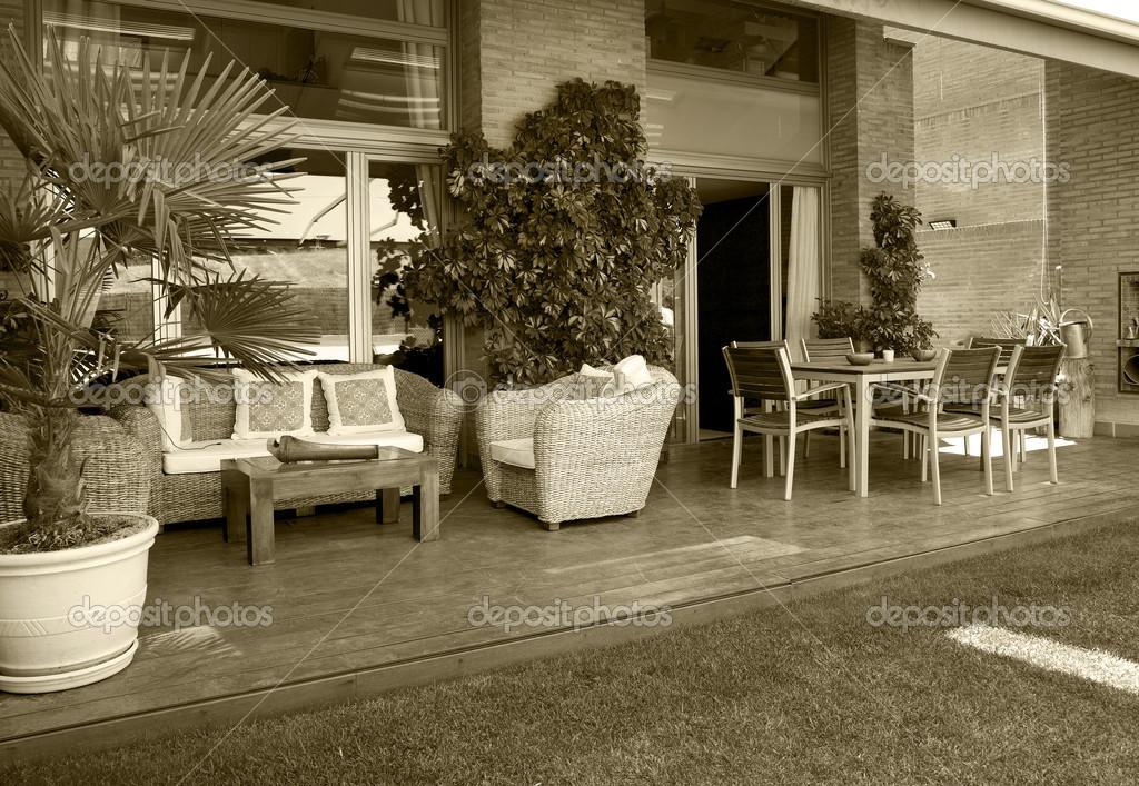 Huis houden buiten decoratie meubilair u2014 stockfoto © abbphoto #31553031