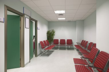 Waiting area and surgery rooms at Clinic center