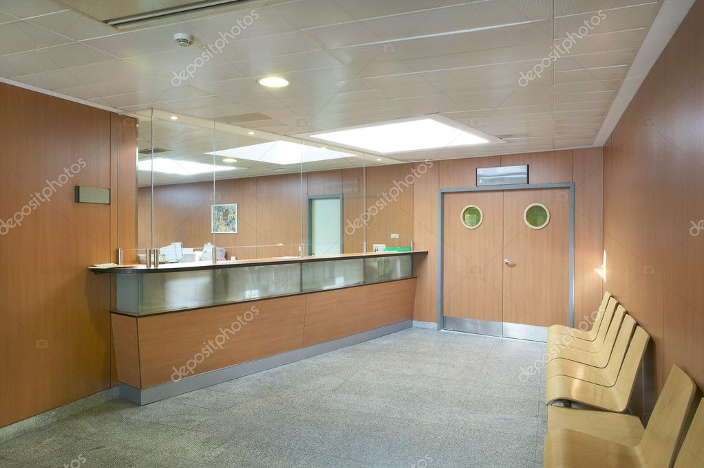 Hospital reception and waiting area