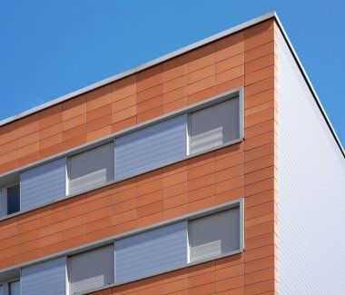 Modern building facade with ceramic coating