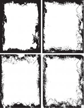 Grunge picture frames