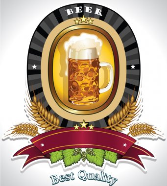 Oval beer label