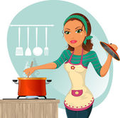 Fotografia donna cucina