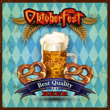 Bavarian beer pretzel with vintage style