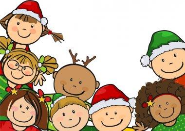 Children together Christmas