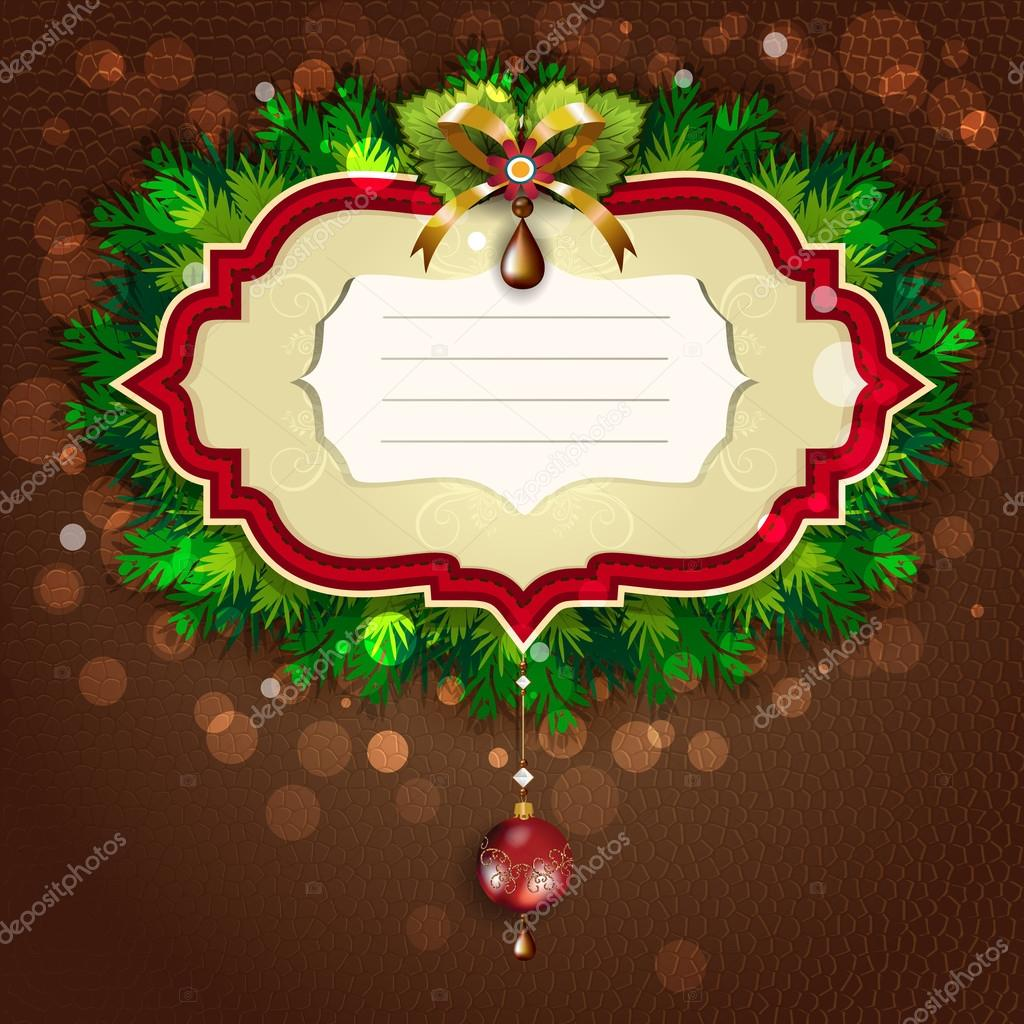 Christmas greeting cards red