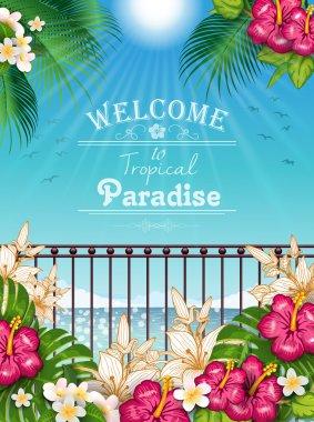 Landscape Tropical Paradise vert