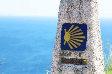 camino de santiago marker