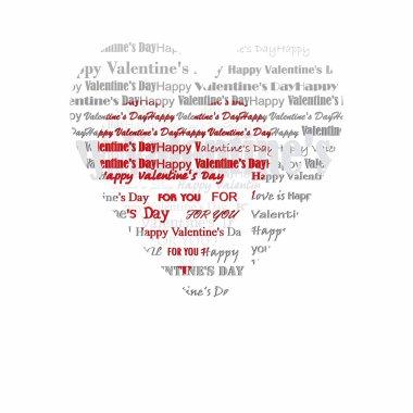 Valentine's Day heart lyrics