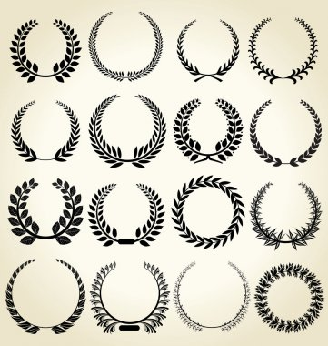 Laurel wreath - set