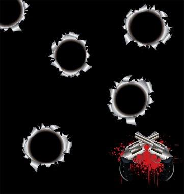 Bullet holes stock vector