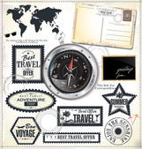 Travel labels set