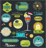 Fotografie Travel labels set