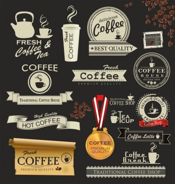 Retro style coffee vintage collection