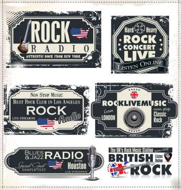 Rock music radio station labels