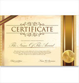 Photo Certificate or diploma template, vector illustration